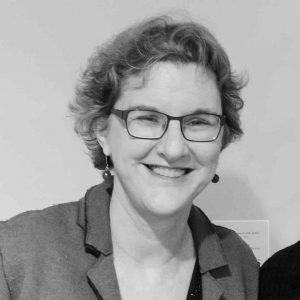 Ann Smart Martin headshot in black and white