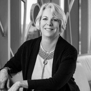 Carolyn Kallenborn headshot in black and white