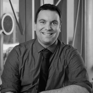 Kevin Ponto headshot in black and white