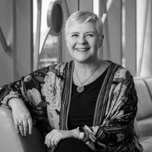 Kristin Thorleifsdottir headshot in black and white