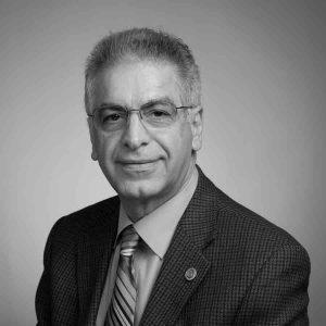 Majid Sarmadi headshot in black and white