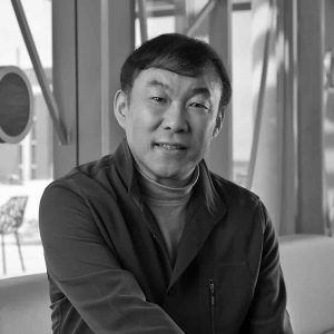 Wei Dong headshot in black and white