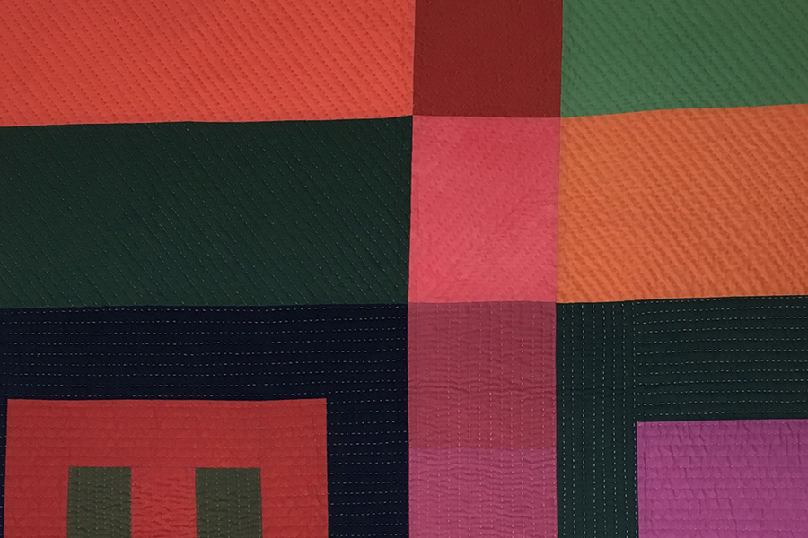 Detail of multi-colored textile