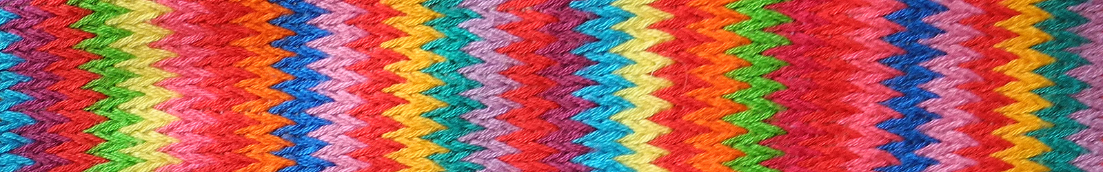Multicolored textile with zigzag pattern