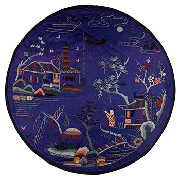 Circular Chinese textile