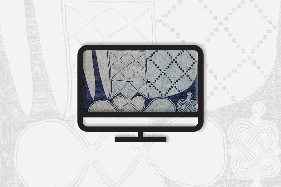 Computer icon with textile texture