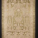 Gold and green Turkish wall hanging