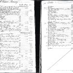 B&W Copy of an 18th-century ledger for Ramsay general store