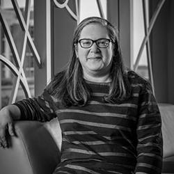 black and white photo of Marina Moskowitz
